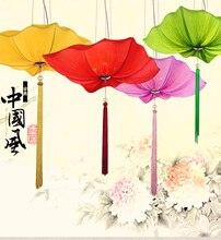 Современная краткое китайский стиль ткань подвесной светильник овальный персонализированные красный фонарь освещения лампы разных размеров и цветов