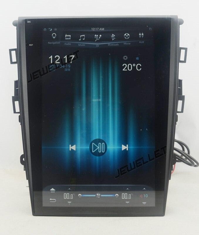 """12.1 """"tesla style vertical écran android 6.0 Quad core De Voiture GPS radio Navigation pour ford Mondeo Fusion 2013- 2017"""