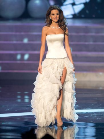 A Line Strapless Pageant Celebrity Dresses Miss Universe miss USA Olivia Culpo Special Occasion Wear