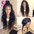 Full Lace Human Hair Wigs With Baby Hair Lace Frontal Wig Brazilian Virgin Hair Wavy Lace Front Human Hair Wigs For Black Women