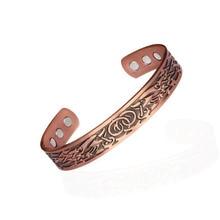 Men Energy  Magnetic Adjustable Cuff Bracelet Pure Copper Femme Vintage Viking Wide Bracelets Bangles For Women
