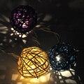 6CM  length, 35pcs Handmade Rattan Balls String Lights Fairy Party Decor /Merry Christmas /Wedding