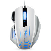 AULA USB Gaming Mouse Macro Wired 2000DPI 6 Colors Led Backlit PC Mouse Gamer Professional Ergonomics Design Mouse for Computer