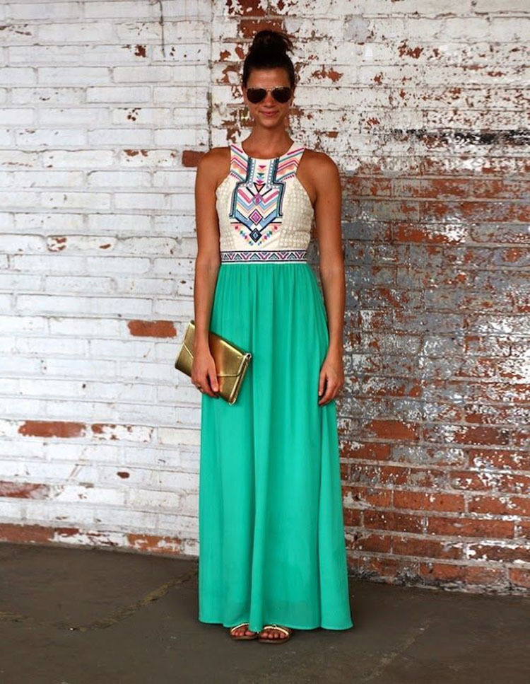 f601b929c Women Summer Bohemian Floral Print Full Length Petite Maxi Dress-in ...