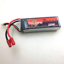 Wild Scorpion 11.1V 2200mAh 30C Li-Poly Battery for Walkera QR X350, V450D01,V45
