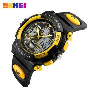 Image 3 - SKMEI ילדי של שעונים ספורט צבאי האופנה קוורץ LED שעון עבור בנות בני Waterproof Cartoon שעוני יד