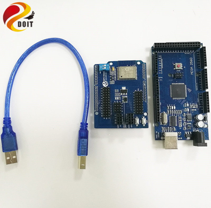 DOIT Free shipping Wireless WiFi Web Sever Shield + from Esp8266 Esp-13 DIY Development Board Extension base DIY RC Toy