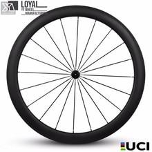 Chinses 700c carbon fiber bicycle wheels carbon road bike wheelset 50mm tubuless wheel ceramics bearing hub