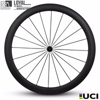 Chinses 700c carbon fiber bicycle wheels carbon road bike wheelset 50mm tubuless wheel ceramics bearing hub