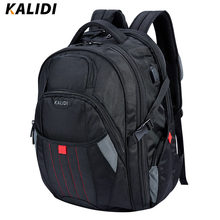 KALIDI 17,18 inch Waterproof Men Backpack USB Charging Large Capacity Travel Male Bags Laptop Backpack For 17.3,18.4 inch