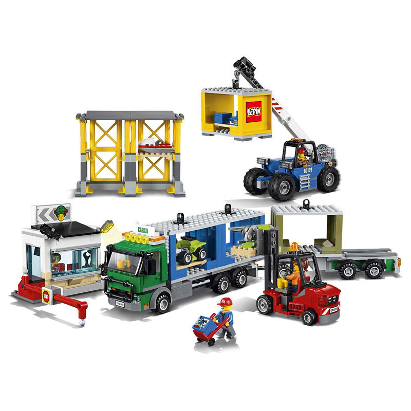 LEPIN City Town Cargo Terminal Building Blocks Sets Bricks Classic Model Kids Toys For Children Technic Gift Compatible Legoings hot sembo block compatible lepin architecture city building blocks led light bricks apple flagship store toys for children gift