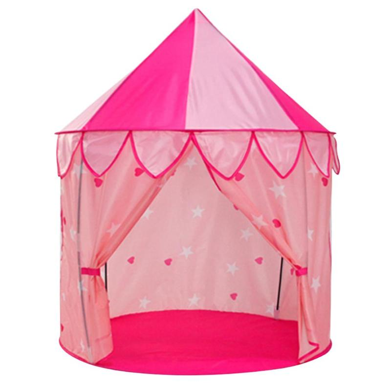 New Kids Toy Tents Children Folding Play House Portable Outdoor Indoor Toy Tent Princess Prince Castle Cubby Playhut Gifts