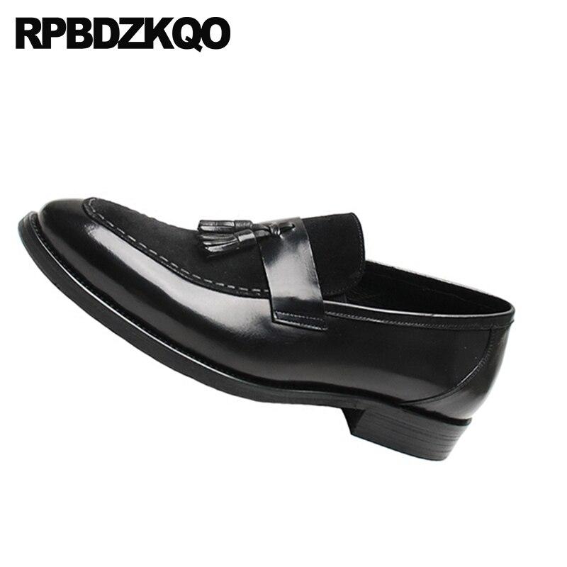 Bal Pointu Qualité En Noir Haute Bout Véritable De Daim Noir Chaussures Cuir Italie Style Nubuck chocolat Mocassins Gland Britannique Hommes 2018 Réel Vintage xU5zwFq1Y