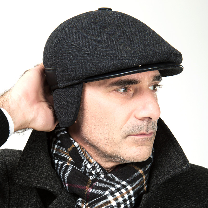 New Arrival Male Wool Hat Men's Winter Warm Woolen Baseball Cap Male Winter Coat Hat Ear Windproof Peaked Cap B-7373 цена