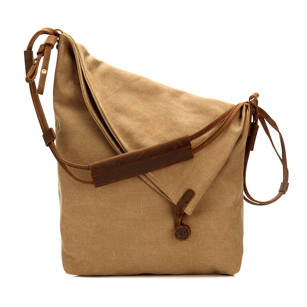Multi Color Canvas Crossbody Shoulder Messenger Bag Girl's Female Fashion Design Causal Sling Handbag For Women MS6631