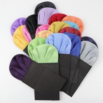 Men Suits Polyester Designer Handkerchiefs Dot Pocket Square Hankies Colorful Casual Square Pockets Hanky