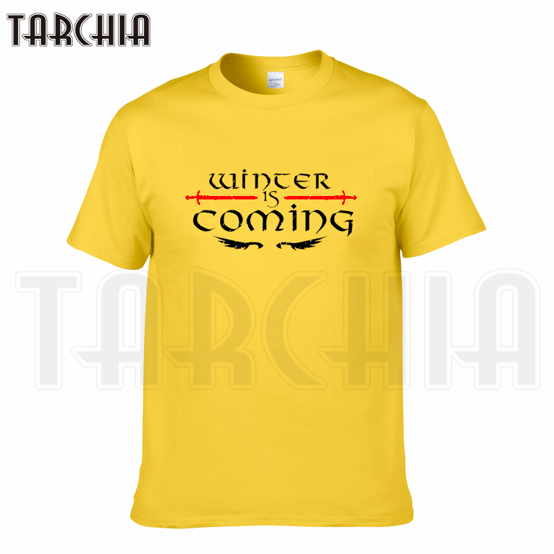 TARCHIA 2018 new brand winter is coming t-shirt cotton tops tees men short sleeve boy casual homme tshirt t shirt plus fashion