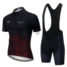 NW 2019 NORTHWAVE Summer Men Cycling Jersey Short Sleeve Breathable 9D bib Bicycle Clothes Gel Pad cycling jersey sets