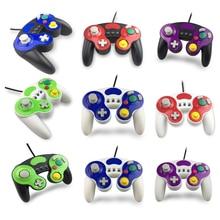 Controlador/mando de juegos con cable con tres botones para Game Cube N G C palanca de mando portátil