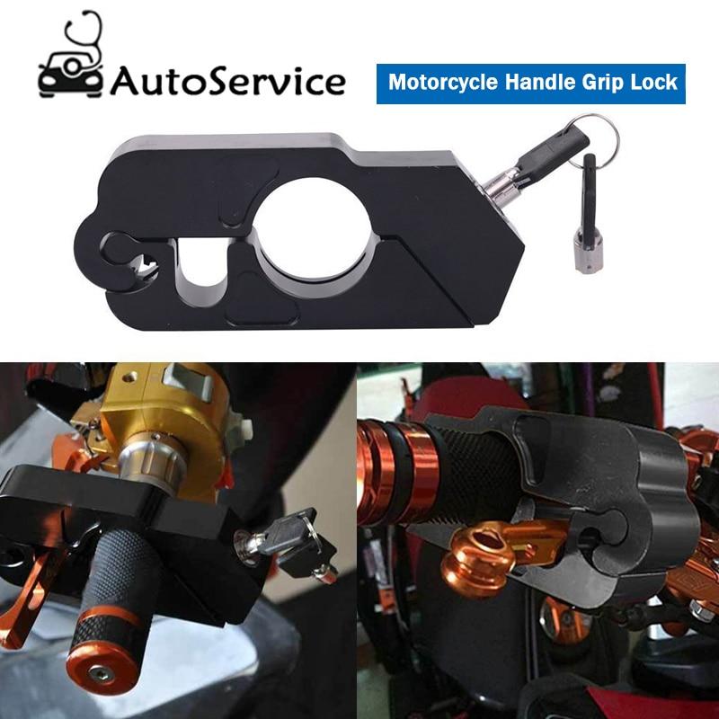 Motorcycle Handle Grip Lock Cnc Aluminum Brake Lever Anti-theft Protection Lock Universal For Kawasaki Z900 Ktm Duke 125 200 390