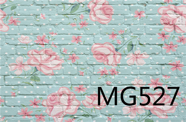 Lb vinyl rustic vintage blue brick wall with pink flowers white dots lb vinyl rustic vintage blue brick wall with pink flowers white dots photography background backdrop props mightylinksfo