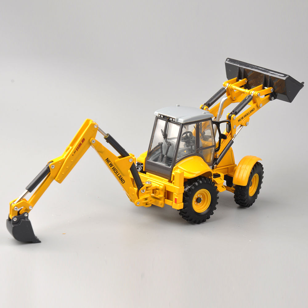 1/50 Scale New Holland Terna LB115B Engineering Vehicles Truck Model Dual Use Bulldozer Excavator Model Collection Diecast