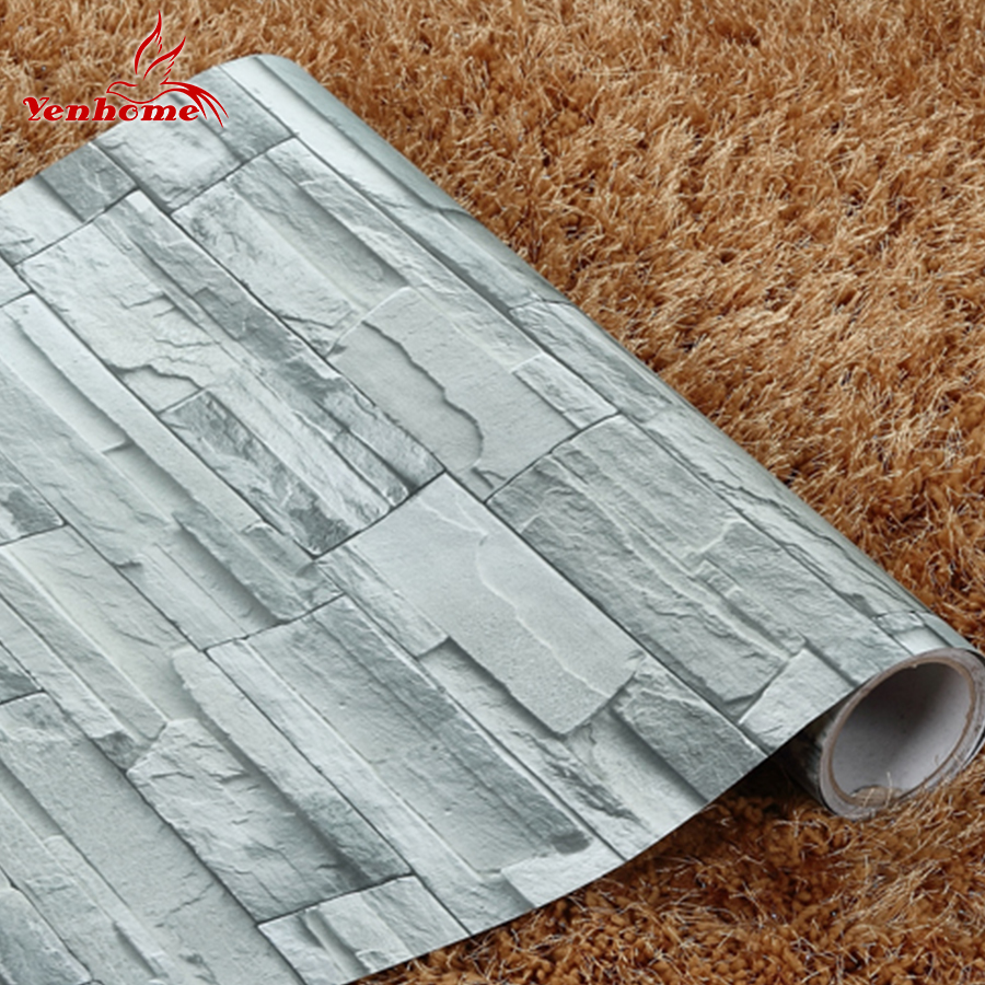 5meter removable self adhesive vinyl 3d vintage for Waterproof wallpaper for home
