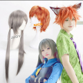 Zootopia JUDY and NICK Anime Wig Cosplay Short 2016 Latest Fashion Double Horsetail Orange Anti Alice Harajuku Synthetic Wigs