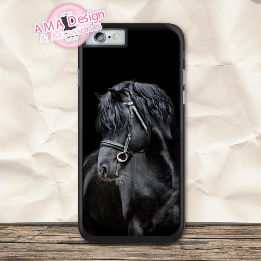 The Black Horse Animal Protective Case For iPhone X 8 7 6 6s Plus 5 5s SE 5c 4 4s For iPod Touch