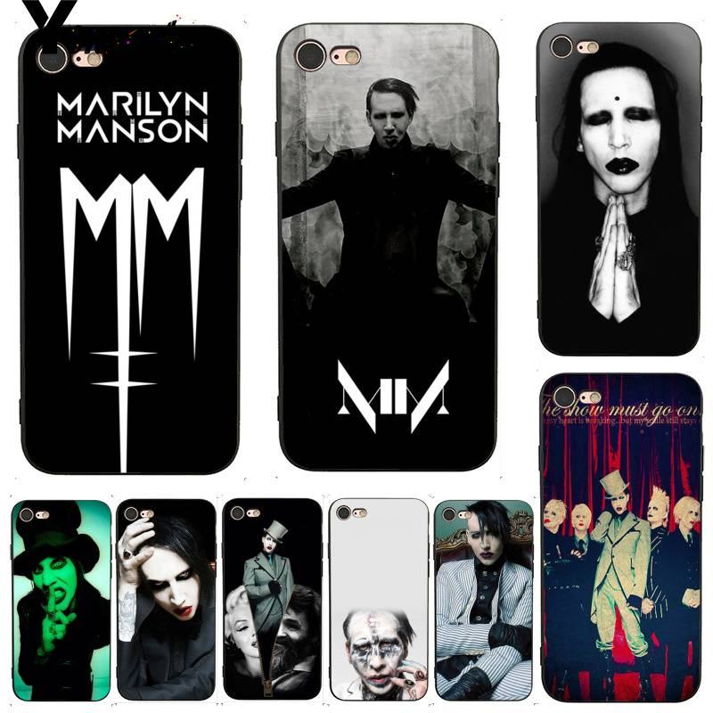 Yinuoda For IPhone 7 6 X Case Marilyn Manson Coque Shell DIY Colorful Phone Case For IPhone 7 X 6 6S 8 Plus 5 XS XR XS XR