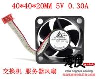 Delta Electronics DAUB0405HD CH60 DC 5V 0.30A 40x40x20mm 4 wire Server Cooler Fan