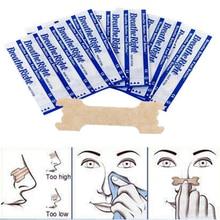 100 шт/партия(66x19 мм) стоп храп правильное дыхание лучшие носовые полоски легко спят анти храп полоски для носа правильный способ для лечения храпа