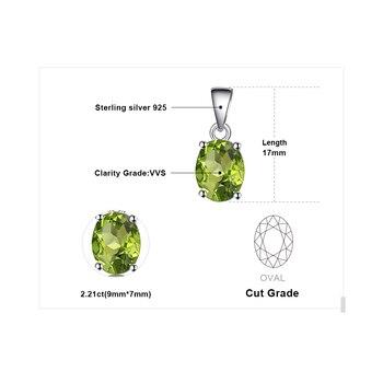 Natural lime Green Pendant Necklace Sterling Silver Gemstones Statement Necklace  4