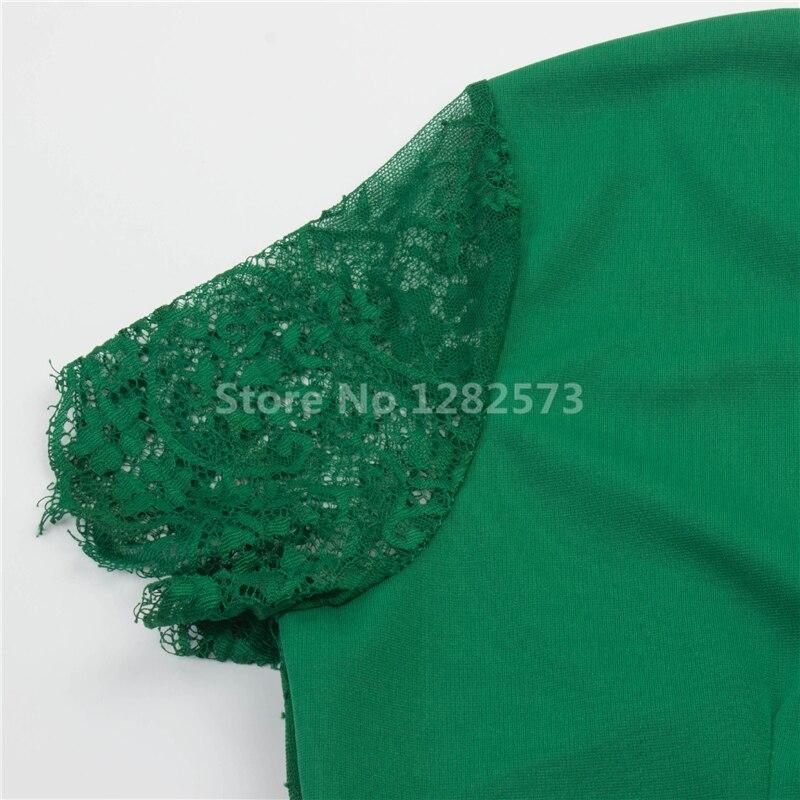 I lager Billiga Enkel Grön Cocktail Klänningar Kort Lace Sleeve - Särskilda tillfällen klänningar - Foto 3