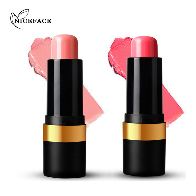 Professional Bake Cheek Blusher Stick Makeup 2 Colors Waterproof Natural Face Bronzer Blush Highlight Cosmetic
