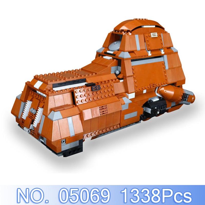 05069 1338Pcs Star Wars Figures Federation Transportation Tank Model Building Kit Blocks Bricks Toy For Children Compatible 7662