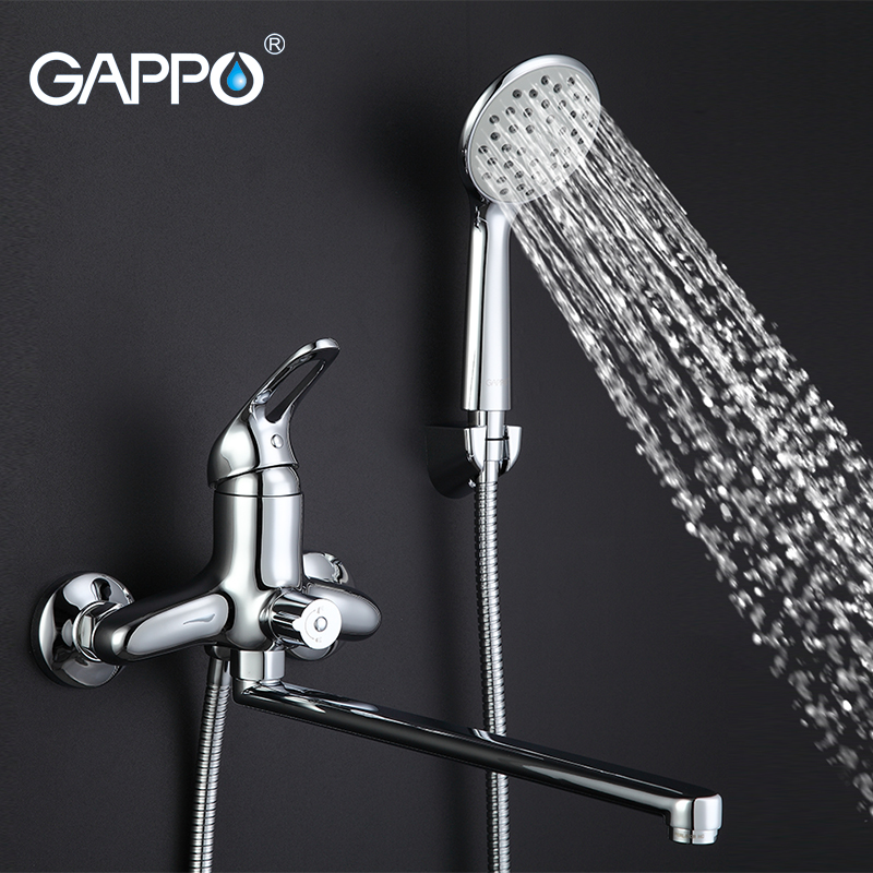 GAPPO Bathtub Faucet Bathroom Faucet Torneira Wall Mount 1 Set Mixer Tap Sink Brass Waterfall Single