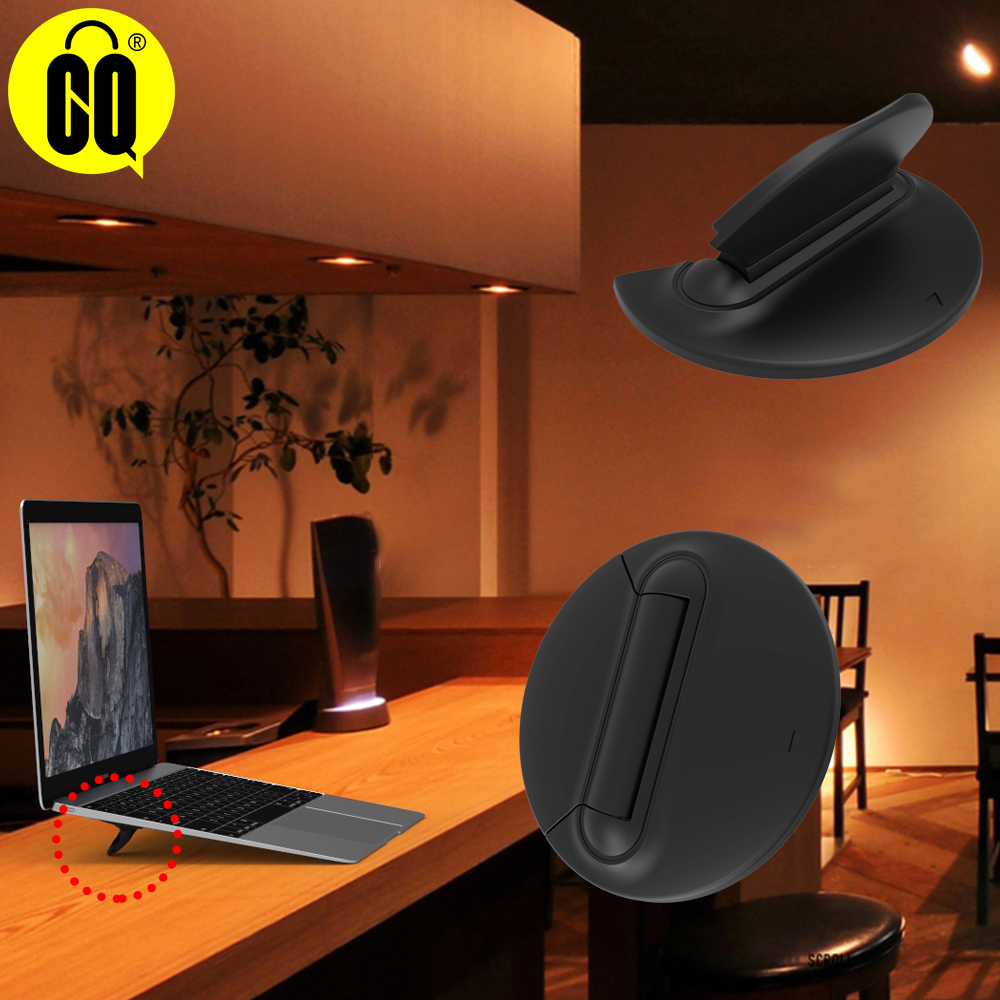 2019 hot sell Universal Black Folding Portable Laptop Stand Bracket Laptop Stand Portable Cooling Pad Support 10 17inch Notebook in Laptop Stand from Automobiles Motorcycles