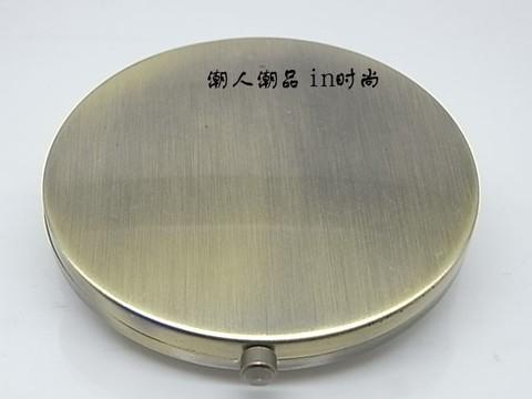 100 pcs espelho compacto diy metal portatil