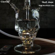 Glawaer Cool Skull Head Hookah Small Shisha Glass Healthy Sm