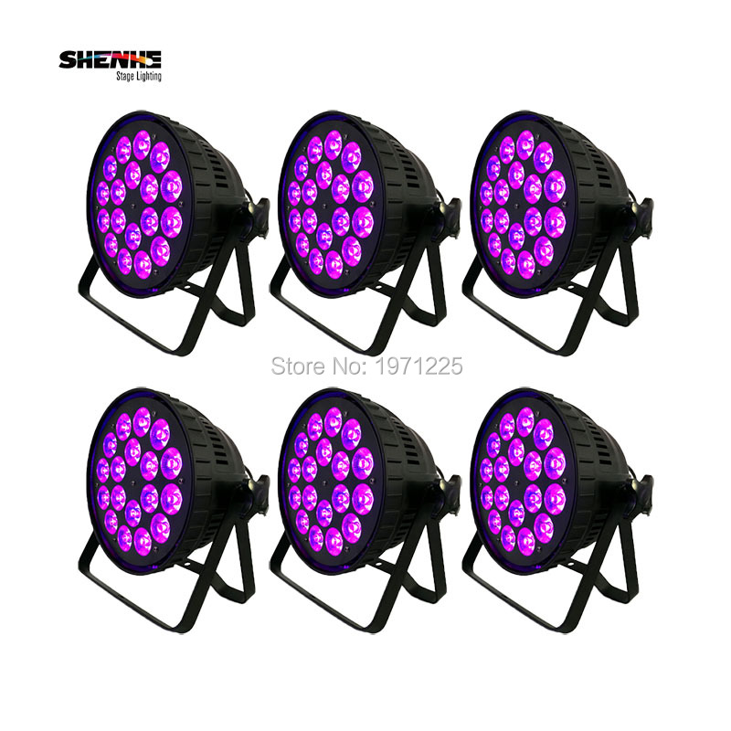 (6pcs) DMX Disco Strobe Stage Lights LED Par Can 18x15W RGBWA Light Stage Light Control for outdoor Show/Performance/Party/Event