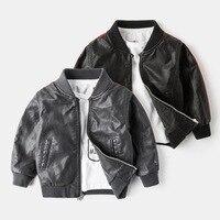 Baby Boys Jacket Kids AutumnWinter PU Leather Overcoat Children S Windbreakers Coat Zipper Boy Suit Clothes