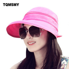 Fashion spring summer uv sun hats for women straw hat girls beach organza hats visors cap multipurpose gorro foldable floppy hat(China)