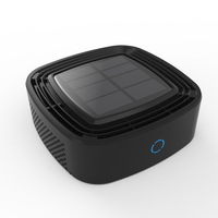 Solar powered on board Air Purifier for Automotive Air Purifier for Formaldehyde Removal Haze Negative Ion Generator