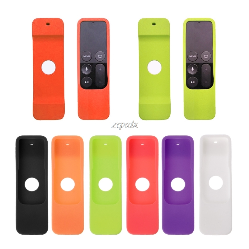 Silicone Case Rubber Dust-Proof Protective Cover Skin Case for Apple TV 4th Remote Control Controller Drop ship ...