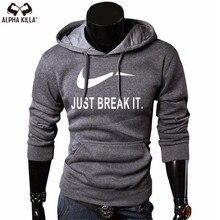 New Products JUST BREAK IT Print Sportswear Men's Sweatshirt Men's Hooded Hoodie Pullover Hoodie недорого