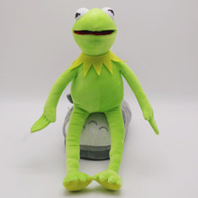 41cm Novelty Square Sesame plush toys Kermit the Frog soft stuffed Animal plush doll for baby gift children(China)