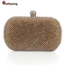 Fashion Women's Party Day Clutches. Bling Full Diamond Wedding Handbag Mini Purse. Lady Banquet Dinner Bag Evening Bag