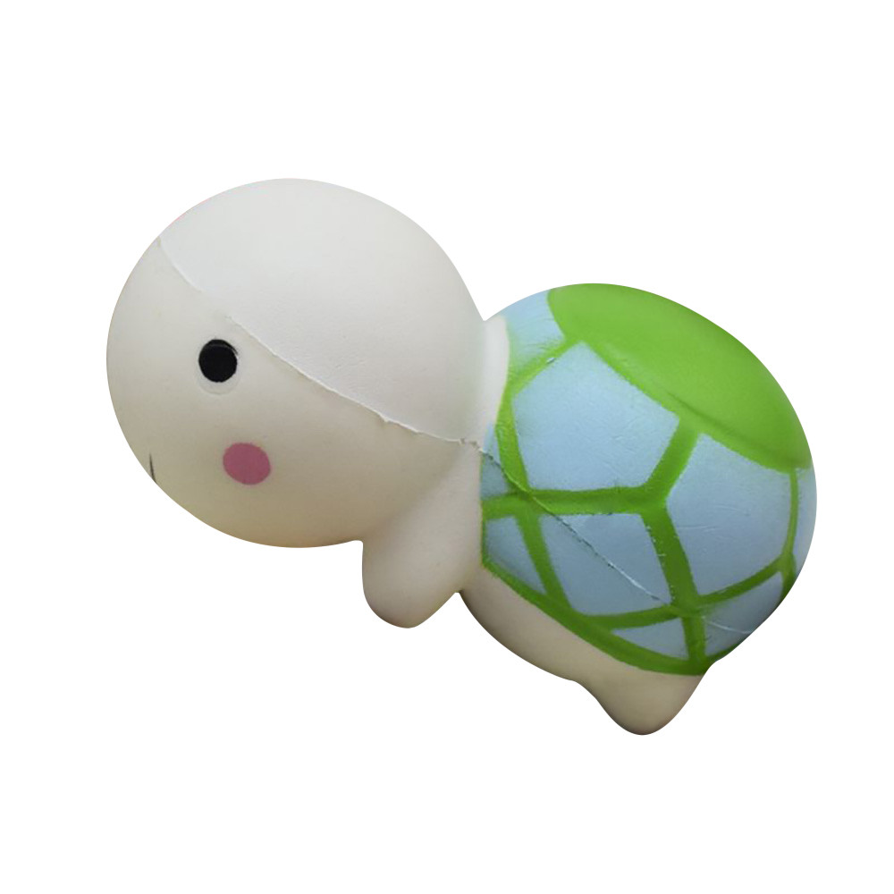 1pc 14cm Cute Tortoise Mochi Squishy Squeeze Soft Slow Rising Cream Scented Healing Fun Toys Stress Reliever Decor for Kids Gift