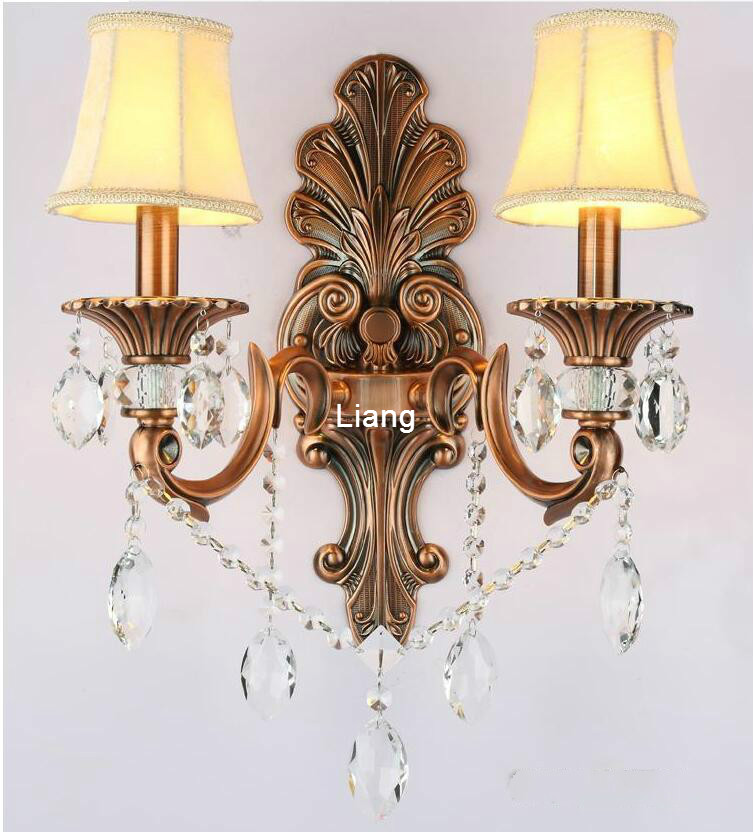 European Brass Color Wall Lamp Decora Bronze Wall Sconce Interior Wall Lights Decorative E14 Wall Sconces For Bedroom Lighting Led Indoor Wall Lamps Aliexpress